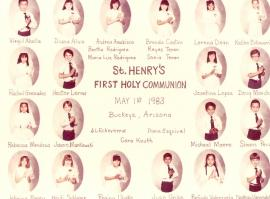 St. Henry First Communion 1983